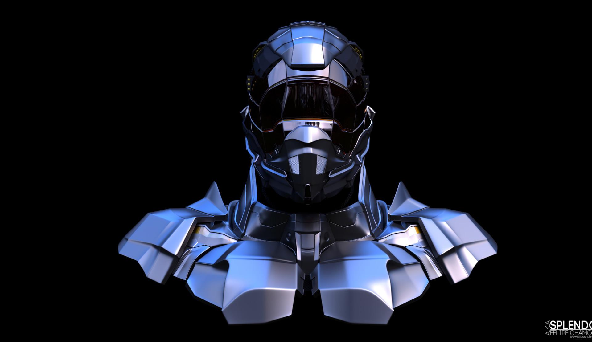 Splendor Helmet SX5 - Armoured Bust
